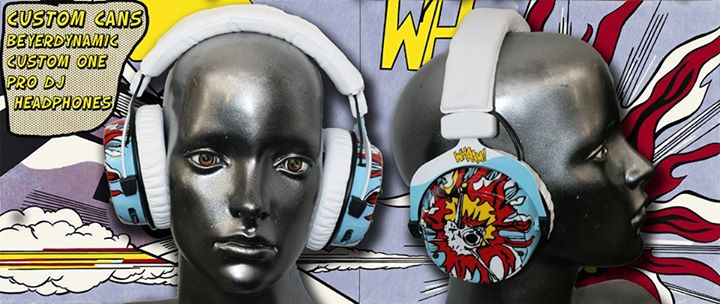 airbrushed headphones